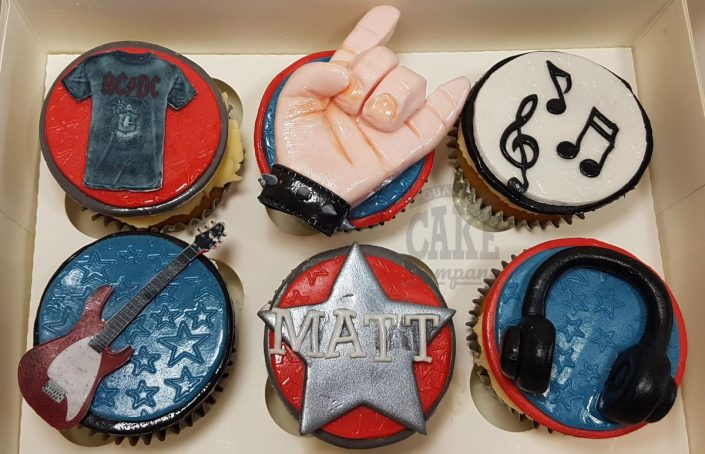 Rock music theme cupcakes - Tamworth
