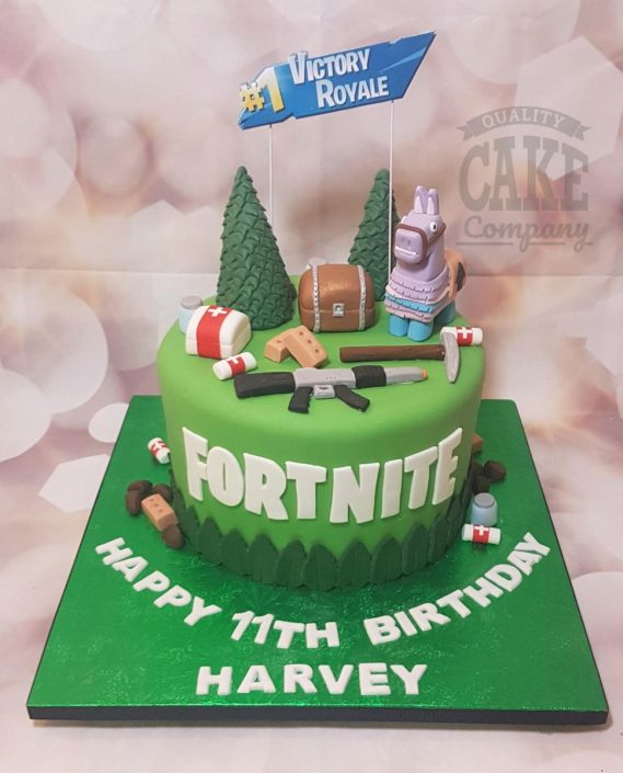 Fortnite birthday cake with llama - tamworth