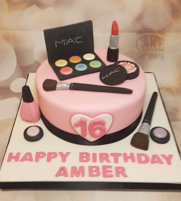 MAC makeup theme birthday cake - tamworth
