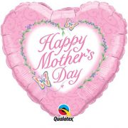 Mother's day heart shape pink balloon