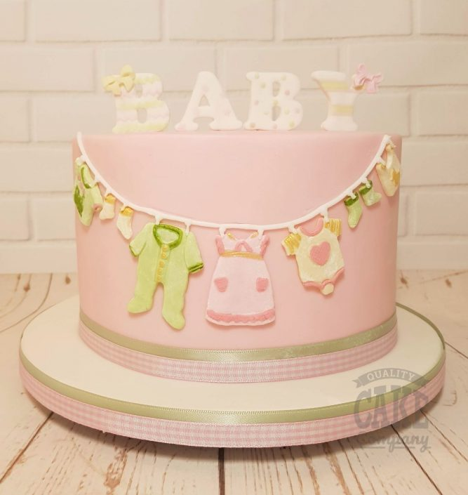 baby shower pink cute cake - tamworth