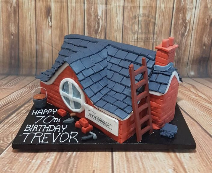 Roofer roofing theme birthday cake novelty - tamworth