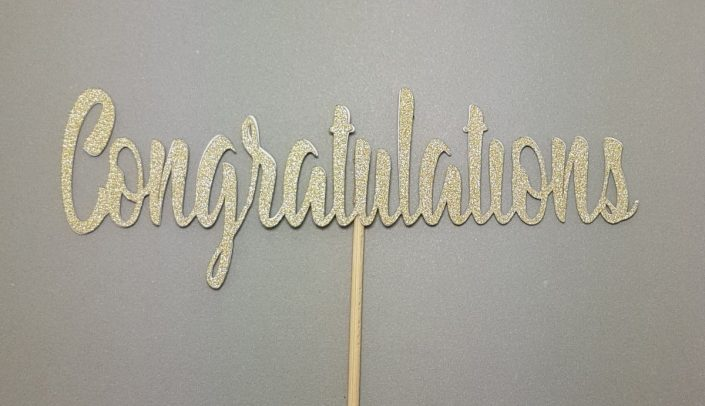 congratulations cake topper tamworth