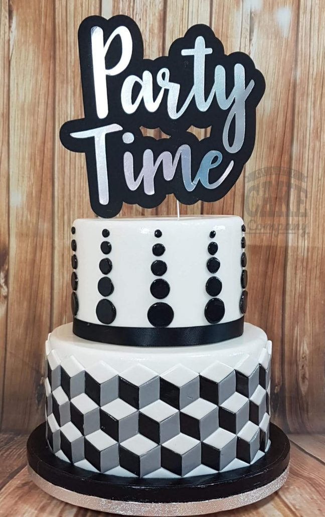 Party Time Geometric With Deluxe Custom Topper