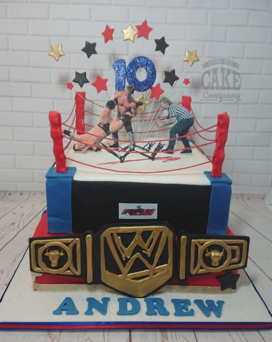 WWE wrestling birthday cake - tamworth