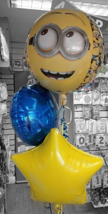 Minions balloon theme bunch spray bundle - tamworth