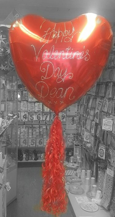 Personalised red heart balloon valentine's day - Tamworth