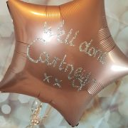 personalised with glitter rose gold balloon - quality cake company tamworth