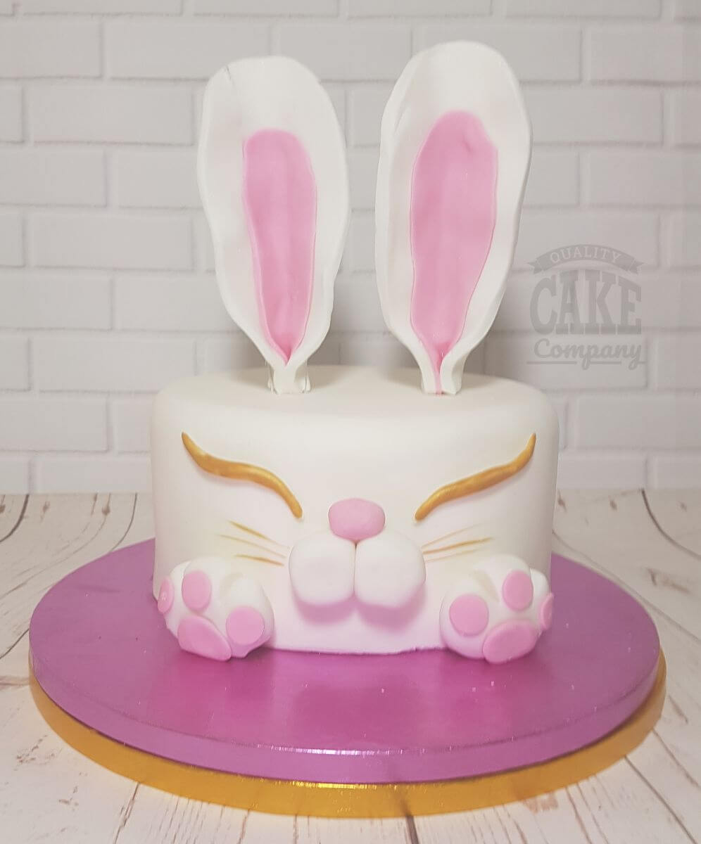 cute bunny rabbit head celebration cake for Easter - Tamworth
