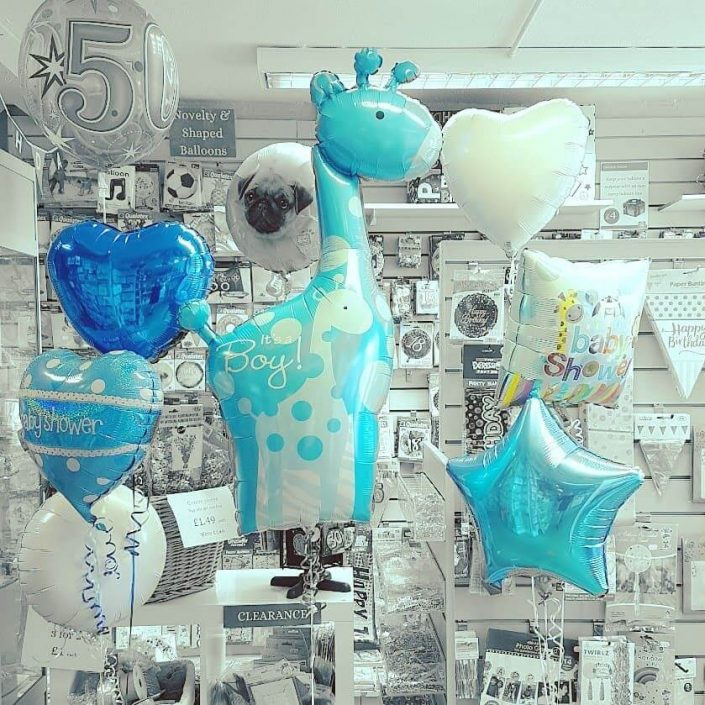 Baby shower balloons cute giraffe - tamworth