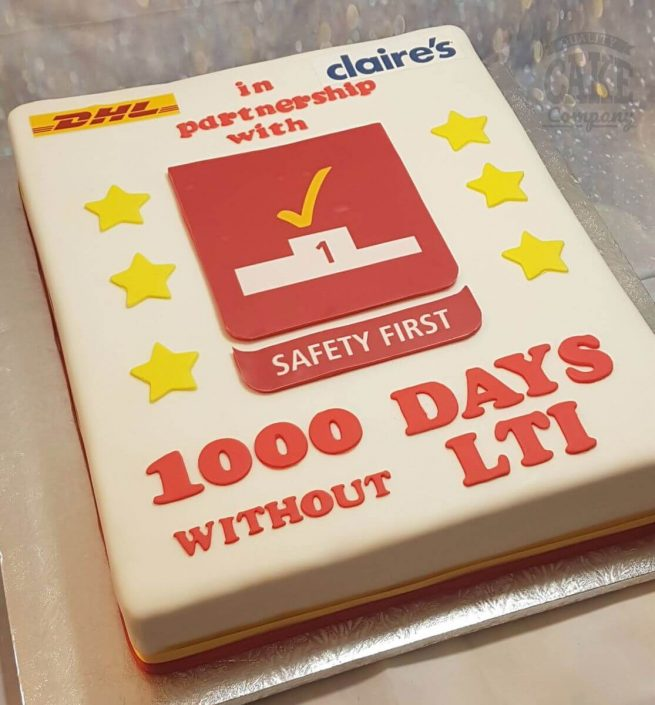DHL corporate large cake - tamworth west midlands