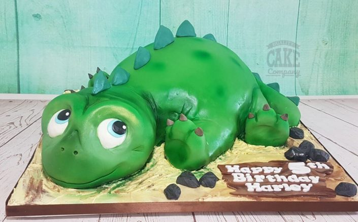 cute novelty sculpted dinosaur birthday cake - tamworth