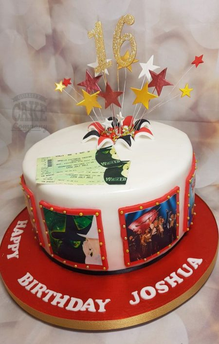 musicals theme birthday cake - tamworth