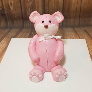 pink bear custom icing cake topper decoration - tamworth