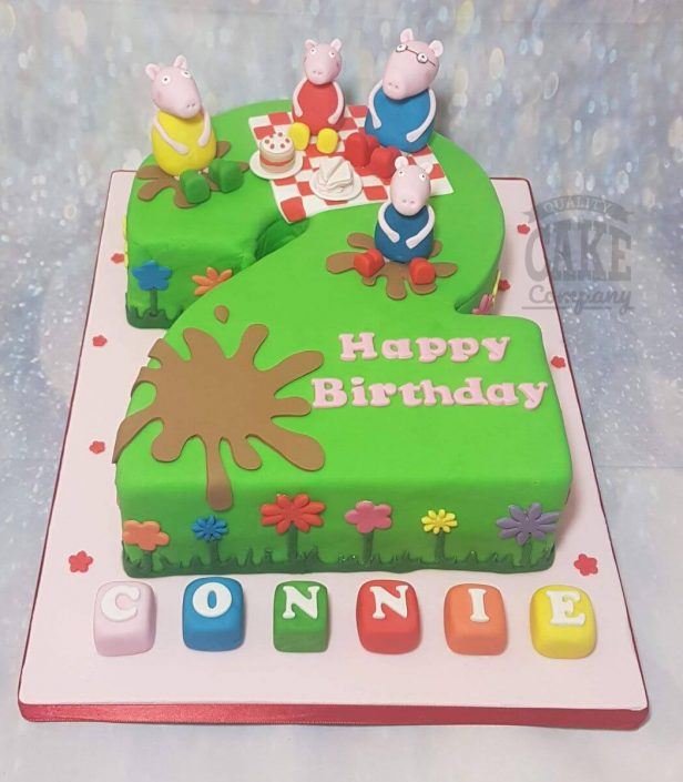 2nd birthday peppa pig picnic theme cake - tamworth