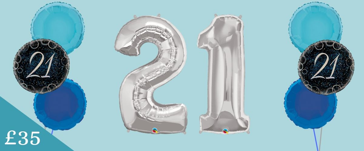 £35 balloon deal giant numbers exclusively at Quality Cake Company Tamworth