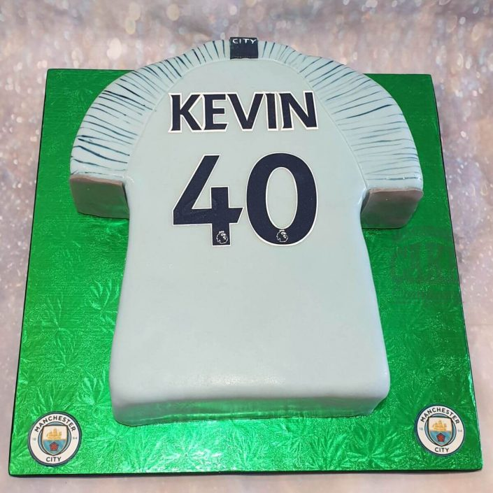 manchester city mcfc shirt birthday cake - tamworth