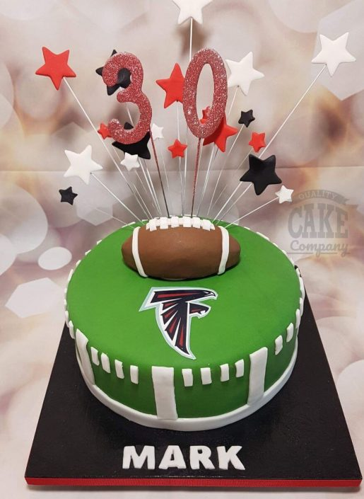 American football theme cake - tamworth