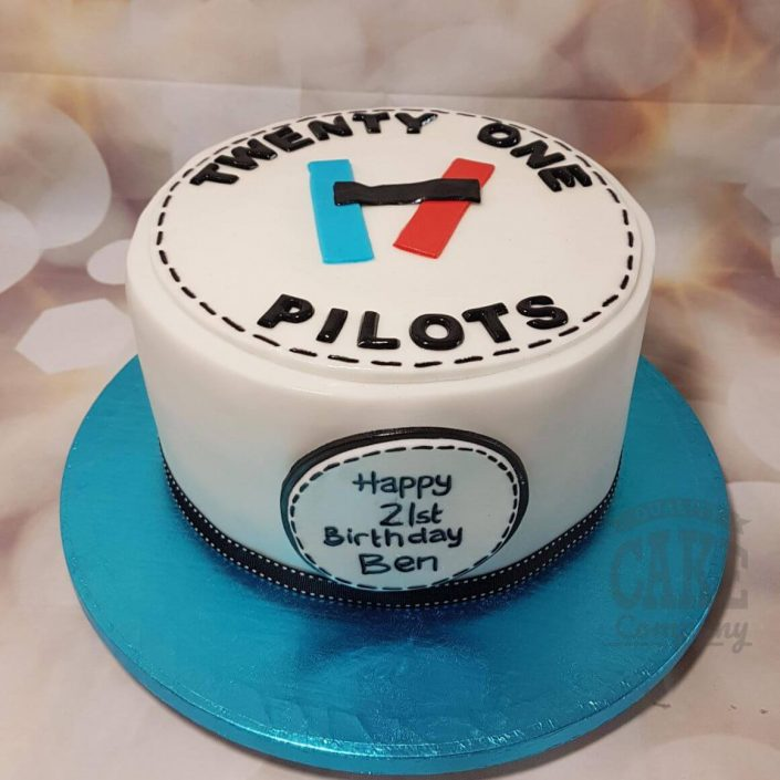 21 pilots band theme cake - tamworth