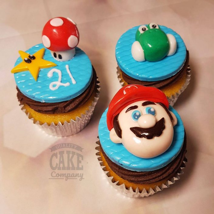 super mario theme cupcakes - tamworth