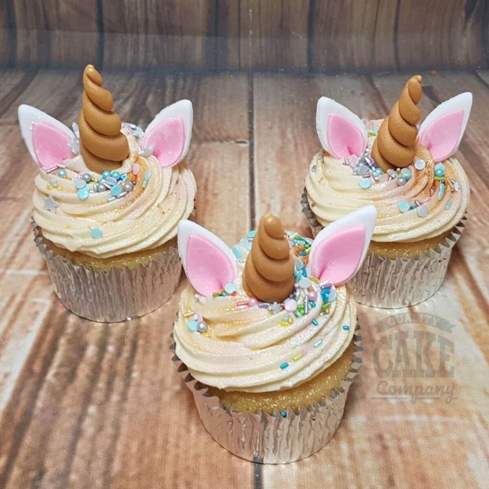 Unicorn horn and ears cupcakes - tamworth