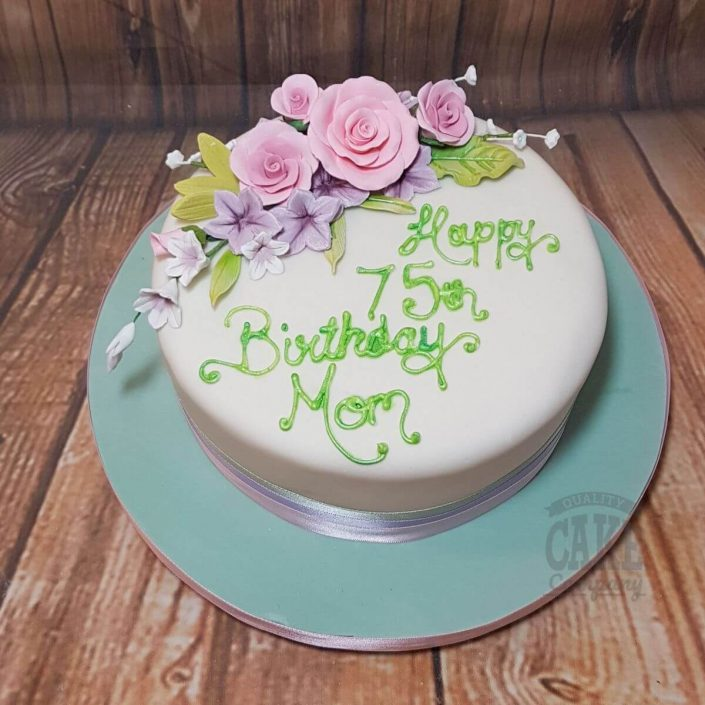 pretty lilac pastel birthday cake - tamworth