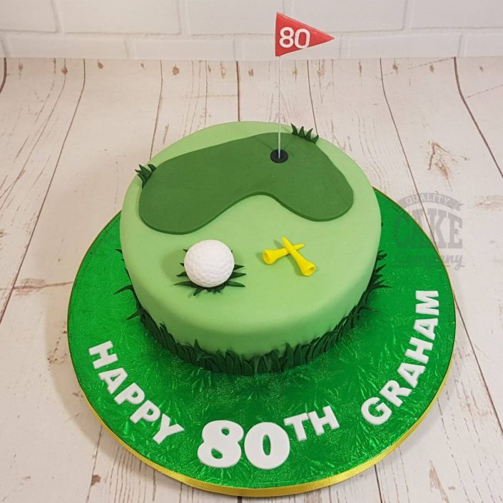golf tee theme birthday cake - tamworth