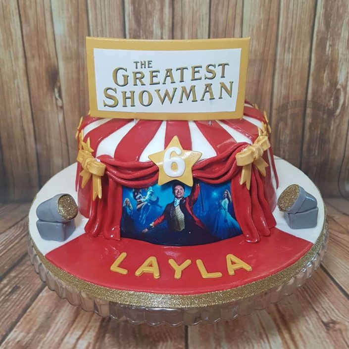 greatest showman tent theme cake - tamworth