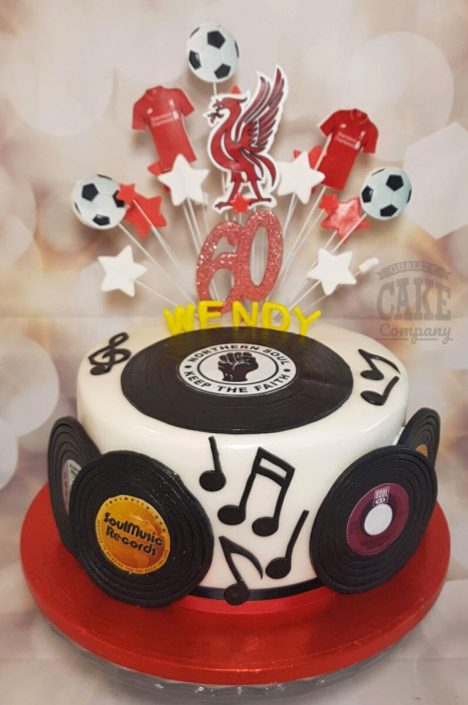 northern soul theme birthday cake - tamworth