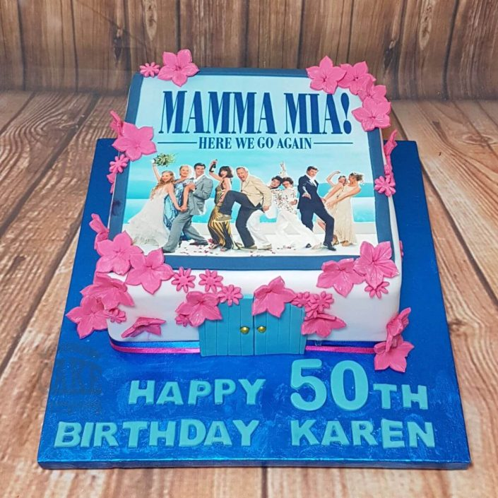mamma mia theme birthday cake - tamworth