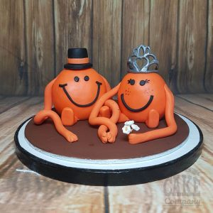 mr and mrs tickle MR Men wedding cake topper - tamworth