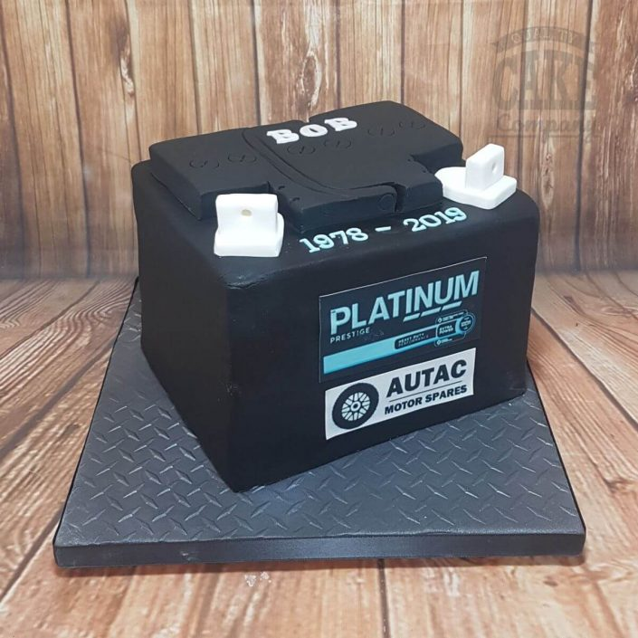 car battery novelty cake - tamworth