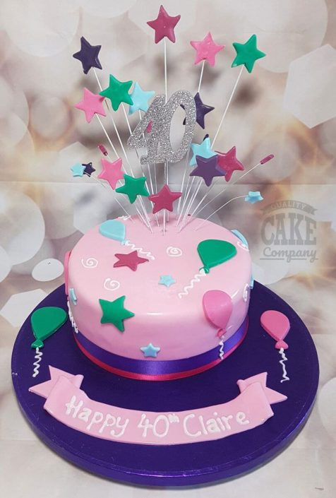 bright balloon star spray cake tamworth