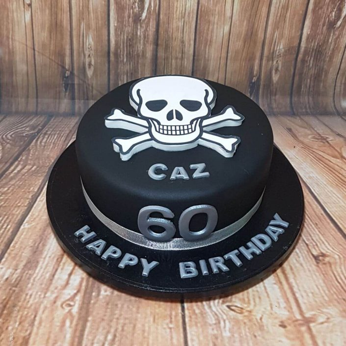 skull and cross bones pirate cake - tamworth
