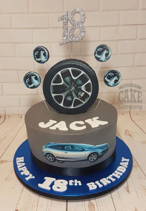 vauxhall car theme cake - tamworth
