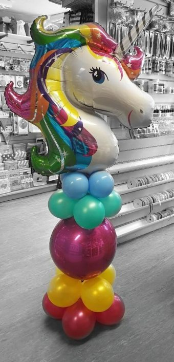 Large unicorn balloon column - tamworth