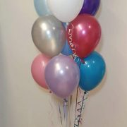bunch of 10 latex balloons mixed colours - tamworth