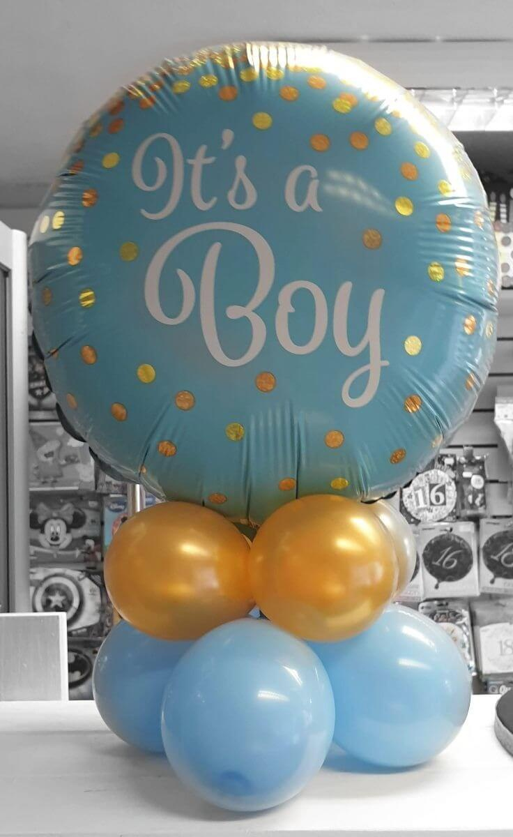 it's a boy new baby air filled table balloon display - tamworth