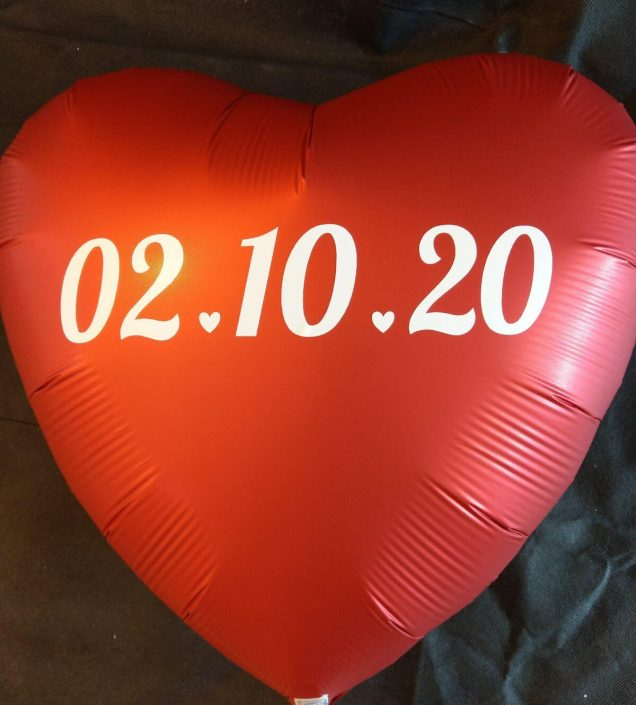 personalised save the date foil balloon - tamworth