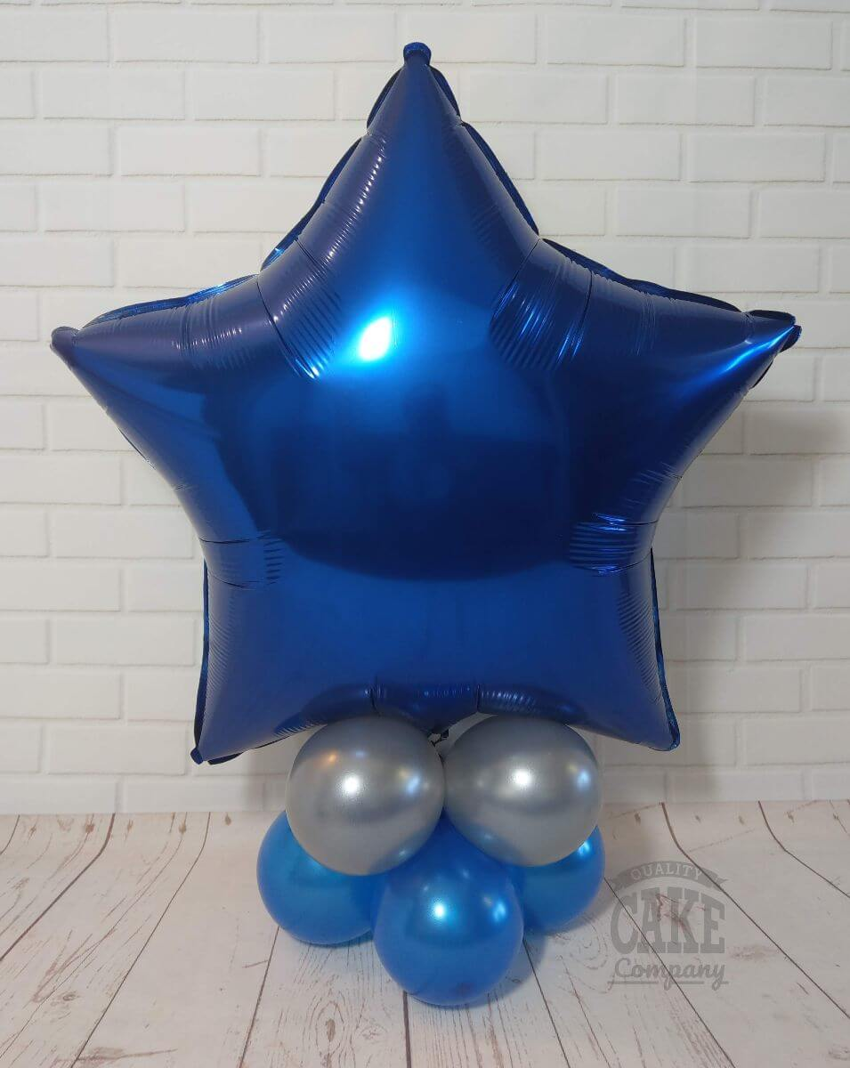 blue star balloon table display tamworth