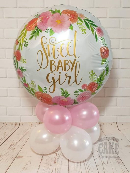 new baby girl balloon table decoration gift - tamworth