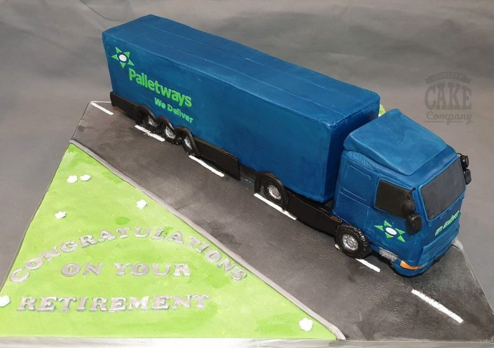 Palletways lorry novelty cake tamworth