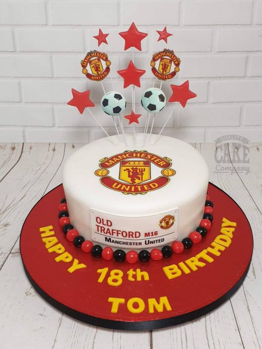 man u manchester united theme birthday cake - tamworth
