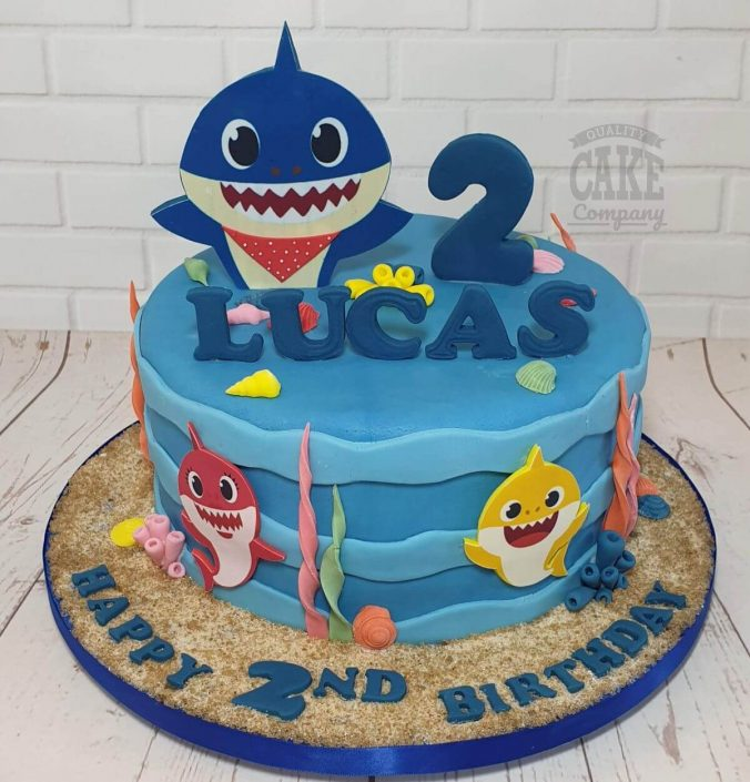 baby shark theme birthday cake - tamworth
