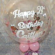personalised bubble balloon for 21st birthday - tamworth