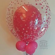 Balloon in a balloon pink happy birthday confetti bubble - tamworth