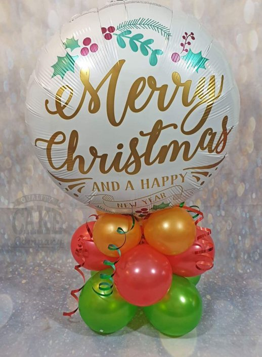 Christmas balloon table centrepiece decoration - tamworth