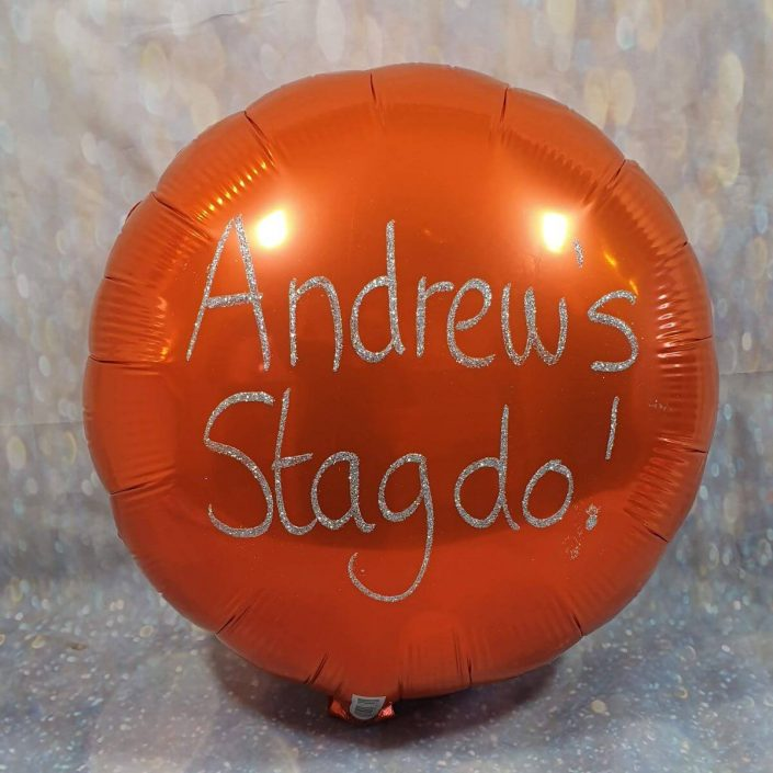 Personalised stag do balloon - tamworth