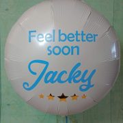 Vinyl personalised foil balloon get well soon - tamworth