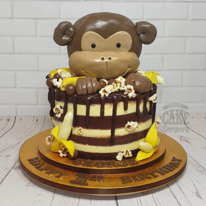 cheeky monkey buttercream and bananas cake - tamworth